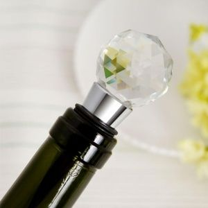 NWT Glass Bauble Wine Stopper